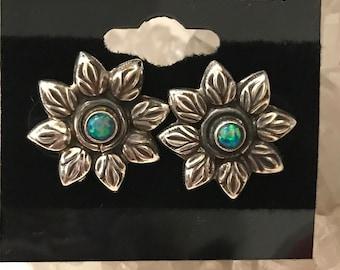 Australian Opal Daisy Stud Earrings