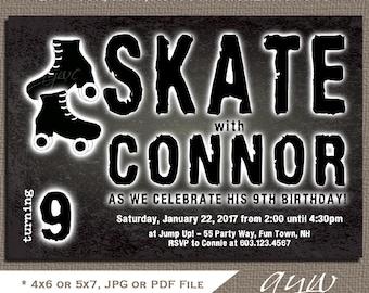 Free Roller Skating Birthday Party Invitations ~ Rock climbing birthday party invitation boy rock climbing
