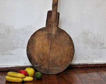 Antique Shovel - Wooden Oven Shovel - Primitive Bread Shovel - Hand Carved Large Wood Shovel - Bread Board - Wood Board - Serving Board