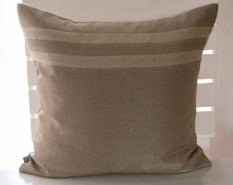 Noble pillowcase in bronze and gold, 50 x 50 cm