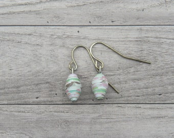 Handmade Paper Bead Earrings