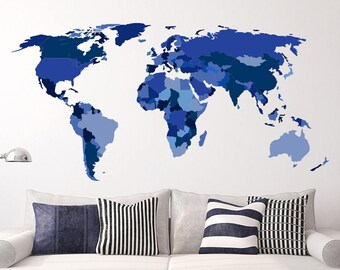 World map decor etsy world map gumiabroncs Image collections