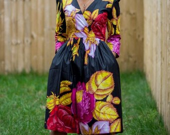 ankara dress, print dress, gathered dress, african print dress,Ankara dress, african print dress, african dress