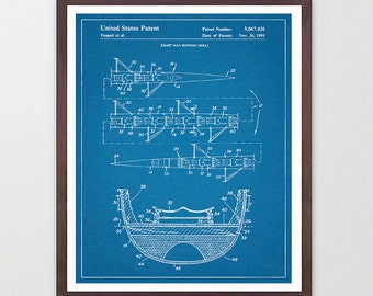 Rowing Patent Art - Crew - 8 Man Row Boat - Sculling Patent - Scull - Oar - Crew Art - Crew Poster - Crew Patent - Rowing Art - Rowing Decor
