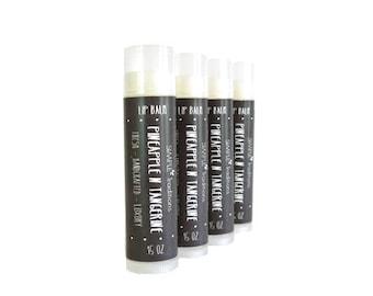 Lip Balm | Handmade Lip Balm | Gift for Her | Chapstick | Pineapple and Tangerine | Treatment Lip Care | Artisan Lip Balm | Best Lip Balm