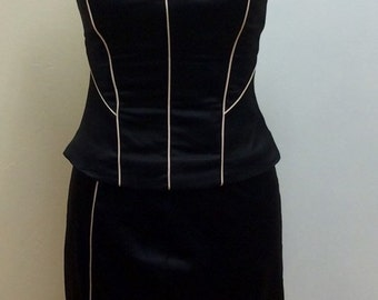 Beautiful silky feel corset and skirt set
