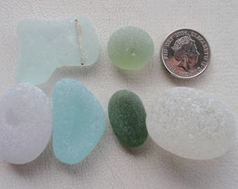 English sea glass chunky specials  shapes lovely colours high frosted