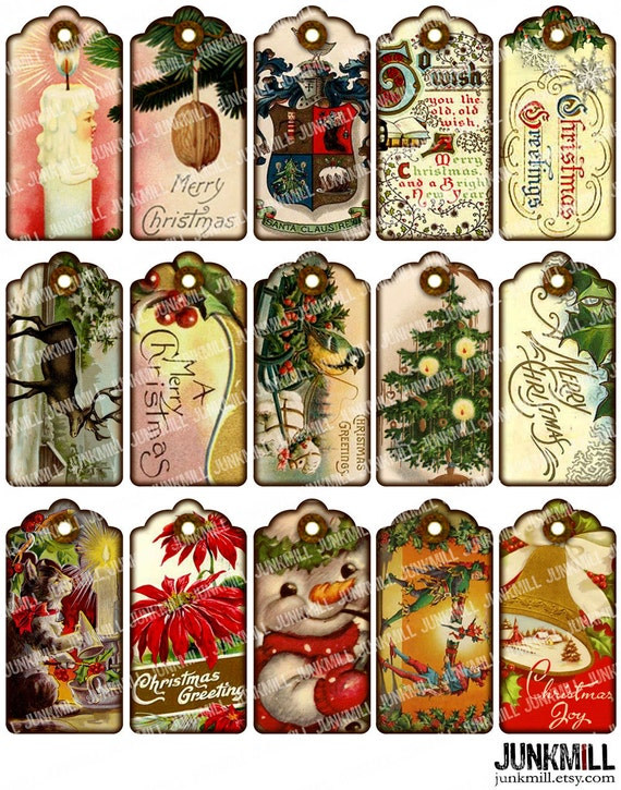 Items similar to victorian gift tags digital printable collage items similar to victorian gift tags digital printable collage sheet vintage holiday hang tags antique shabby chic christmas instant download on etsy negle Image collections