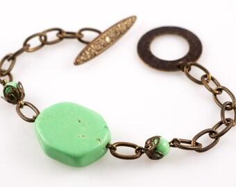 Spring Howlite Bracelet