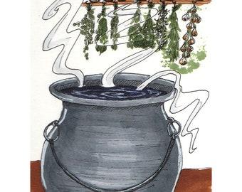 Inktober Witch's Brew