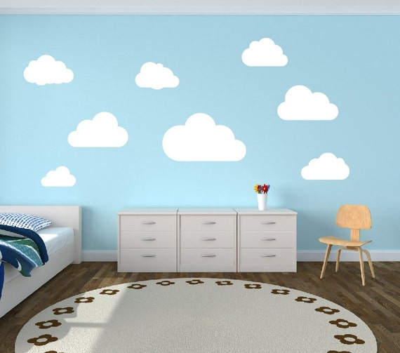 Cloud Wall Decals Clouds Nursery Wall Decal Set Of 8 Clouds