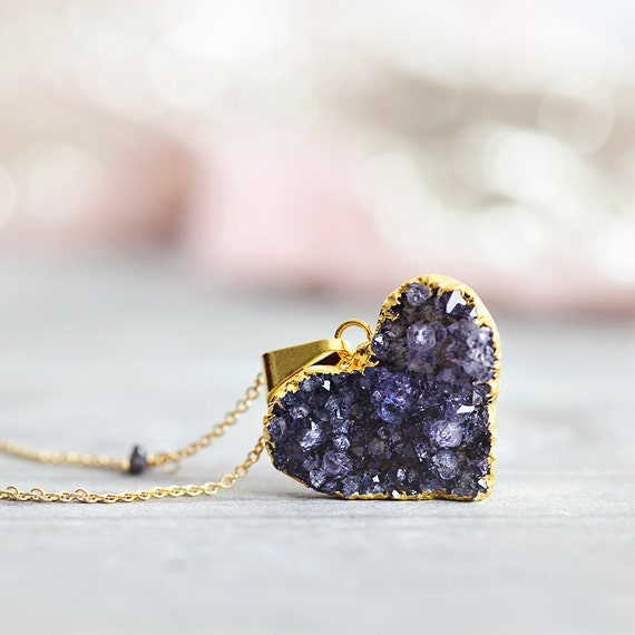 Black Heart Necklace - Valentines Day Gift