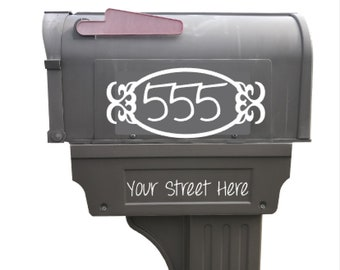 Mailbox Address Decal | Plastic Mailbox | Metal Mailbox