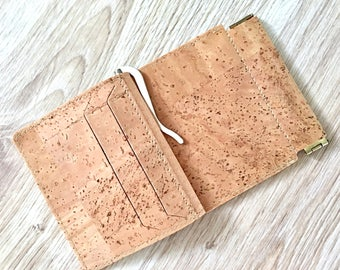 Natural Money clip wallet, holder for money, eco-friendly gift, gift for him