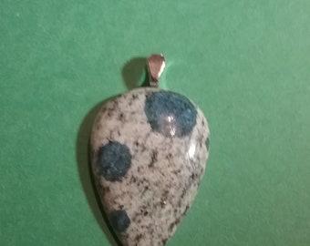 K2 Jasper k2 Granite Raindrop Azurite Pear Cabachon Gemstone Pendant