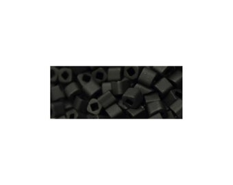 TOHO T3C49F 3mm Cube Beads Matte Opaque Jet 5 Grams