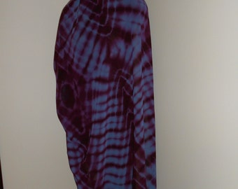 Periwinkle Blue and Plum Tie Dyed 3 Yard Chiffon Bellydance Veil