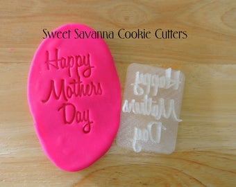 Happy Mothers Day Fondant Embosser N2