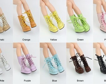 Blythe Colorful Macarons Half Boots | Blythe shoes | Doll Shoes | JerryBerry, Dal, Pullip , AZONE S, Momoko, Lati Yellow, Pukifee