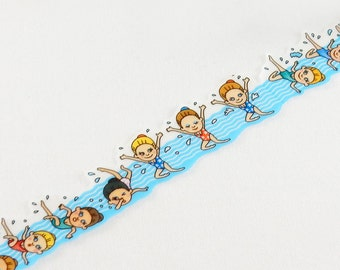 Synchronized Swimming Washi Tape • Round Top Masking Tape • Tips Die-cut Masking Tape Character Series Swimming RT-MK-019