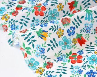 Liberty of London - 97x135cm - Edenham - red Turquoise fabric