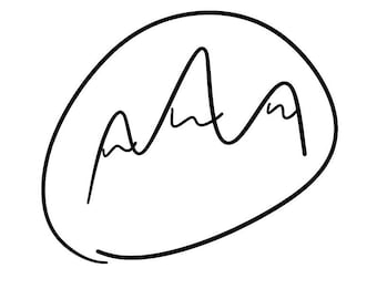Hand Drawn Abstract Mountians SVG Cut file