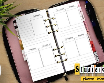 ZIPPERED Recollections PRINTABLE undated WO2P insert; Week on 2 pages; personal planner insert ; calendar; Michaels; box planner