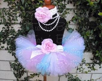 Girls Tutu, Birthday Tutu, Tutu Set, Easter Tutu, Newborn Photo Prop, Pink Blue White Tutu, Sweet Little Lovey, Newborn Tutu Toddler Tutu