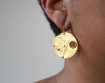 Many Moons Reticulated Earring - Final Sale