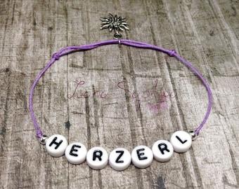 Oktoberfest ** Wiesn ** Elegantes Armband lila ** Herzerl