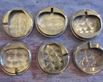 Vintage Antique Watch parts cases backs- Steampunk - Scrapbooking T74