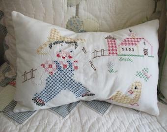 Vintage Cross Stitch Pillow