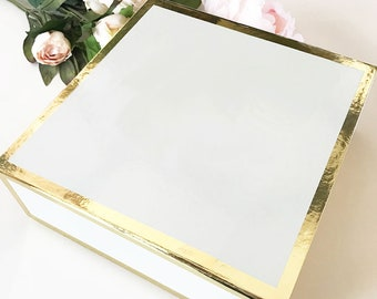 Gold & White Gift Box-Blank