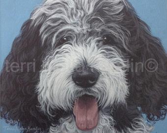 CustomDog Portrait, 10x10 Pet Portrait, Custom Pet Portrait, Painted Pet Portraits, Dog Portrait Custom, Fathers Day Gift