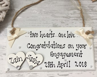 Personalised Engagement Gift, Wedding Gift, Personalised Wedding, Happy Ever After, Wedding Sign, Wedding Keepsake, Bride Gift Present