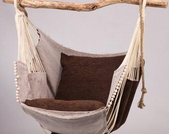 Hammock chair (brown/beige)