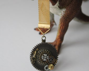 Steampunk Medal with Some Real Watch Gears
