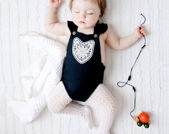 Boho Baby Clothes Black Baby Clothes Hipster Baby Clothes Boho Baby Romper Linen Baby Romper Linen Baby Clothes Baby Girl Outfit Infant Girl