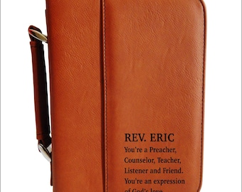 Christian Gifts for Pastor - Priest Gift - Appreciation Gift for Pastor - Bible Case - Fathers Day, BCL024
