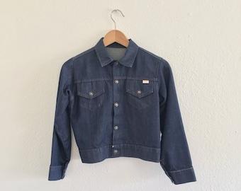 Petite Vintage Super Denim Jacket VTG 70s 80s Selvedge Jean Blue XS Small