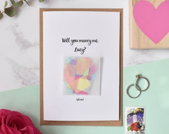Personalised 'Will You Marry Me' Unusual Proposal Confetti Card