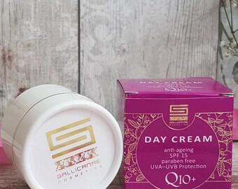 """Natural Day Face Cream Anti-Ageing SPF 15 Q10 """"Gallicanae"""" 50 ml"""