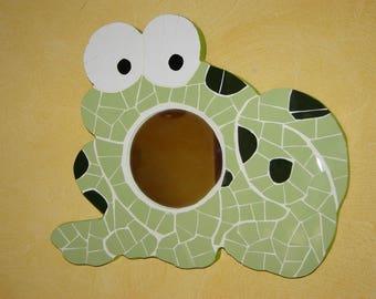 Frog mosaic mirror
