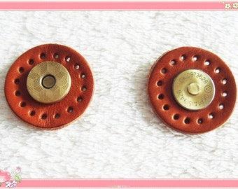 5 piece nähbare magnetic catch Brown