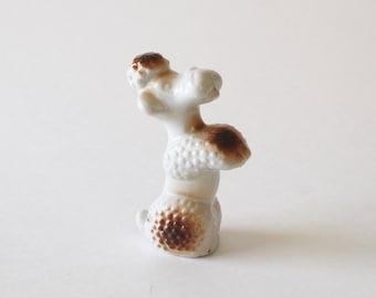 Poodle Dog Ceramic Figurine- Vintage 1950's