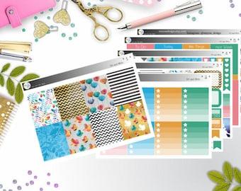 weekly kit - Art and Birds (Erin Condren and Happy Planner Stickers)