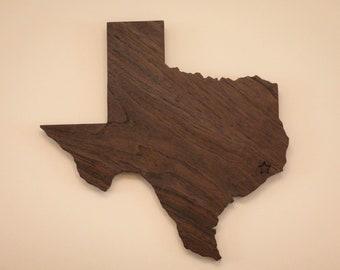 Custom Hardwood Texas Wall Art