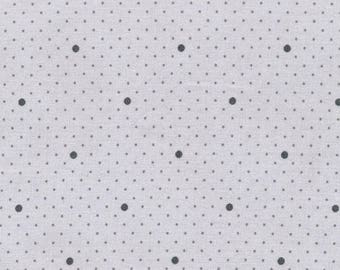 Pastel gray waxed canvas with scattered gray dots and grey polka dots sold Cup