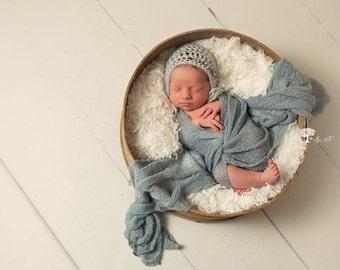 Lace Baby Bonnet, Mohair Newborn Hat, Newborn Photo Prop, Baby Bonnet, Knit Mohair Bonnet, Knit Mohair Lace Bonnet, Newborn Boy or Girl Hat