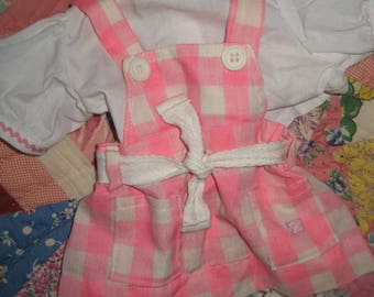 Cabbage Patch Kid Clothing/Outfit Cornsilk Pink and White Dress